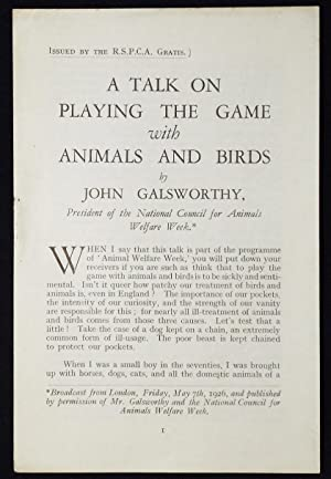 A Talk on Playing the Game with Animals and Birds