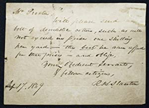 Autograph letter signed by Richard H. Stanton to George M. Procter (later Major George M. Procter)