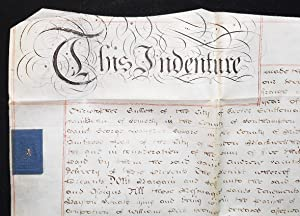 Vellum indenture of lease and release between Christopher Gullett of Exeter, gentleman, and the R...