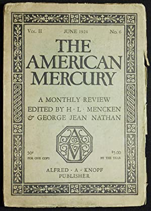 Absolution [in The American Mercury: A Monthly Review edited by H.L. Mencken & George Jean Nathan...