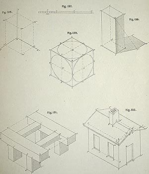 Plates to Descriptive Geometry: Shades, Shadows and Linear Perspective: Church, Albert E. (Albert ...