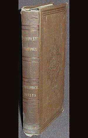 Biographical Essays: De Quincey, Thomas