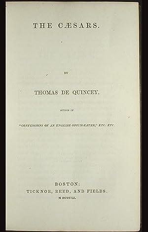 The Cæsars [The Caesars]: De Quincey, Thomas