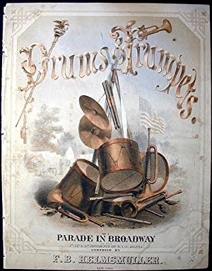 Drums & Trumpets, or A Parade in Broadway of the 7th, 22d, & 71st regiments of N.Y.S. Militia