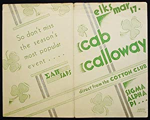 Advertising Flyer: St. Patrick's Night Ball, Philadelphia, featuring Cab Calloway and his Cotton ...