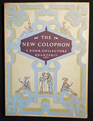 The New Colophon: A Book Collectors' Quarterly vol. 2 Part 7 September 1949