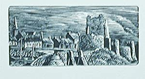 The Castle at Carrickfergus, Northern Ireland [A Wood Engraving by John H. DePol; Number Four in ...