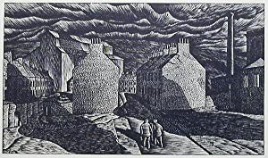 Factory District, Belfast: Wood Engraving by John DePol