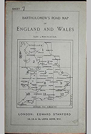 Bartholomew's Four Miles To the Inch Road Map of England and Wales: New Series Sheet 7: Southern ...