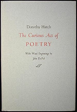 The Curious Act of Poetry; With wood engravings by John DePol