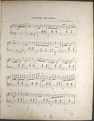 Fantine Mazurka: Composed & Arranged for the Piano Forte: Rogers, A.H., Jr.