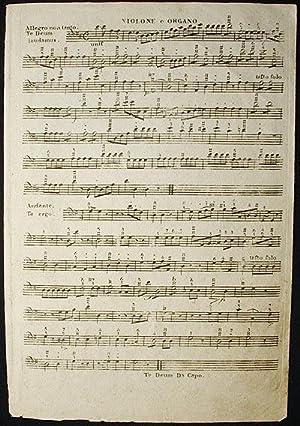 Te Deum Laudamus et Veni Creator Spiritus: Opus II [violone e organo part]: Ohnewald, Joseph?]