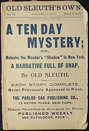 A Ten Day Mystery; or, Malcolm the Wonder's