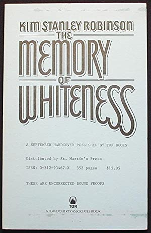 The Memory of Whiteness: A Scientific Romance [Uncorrected Bound Proofs]