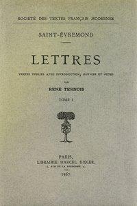 Lettres: Saint-Évremond (Charles de)