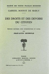 Des droits et des devoirs du citoyen: Mably (Gabriel Bonnot de)