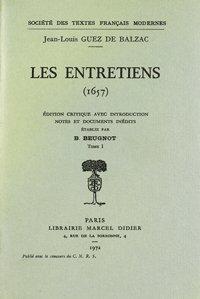Les Entretiens: Guez de Balzac (Jean-Louis)