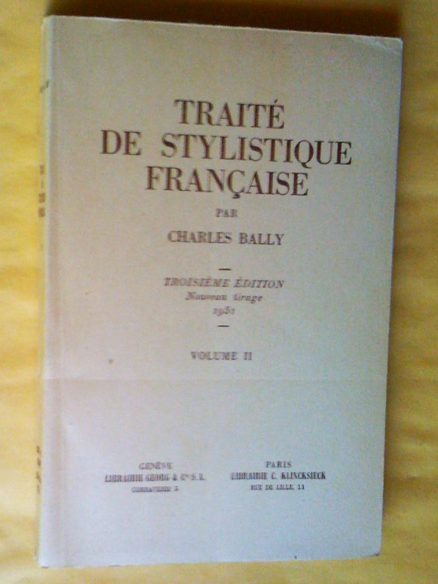 online store fast delivery free shipping TRAITE DE STYLISTIQUE FRANCAISE - VOLUME 1 ...