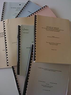 Études commandées par le Secrétariat à la de66b92e0