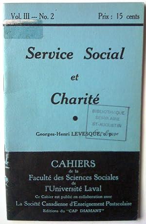 Service social et charité: Georges-henri Lévesque