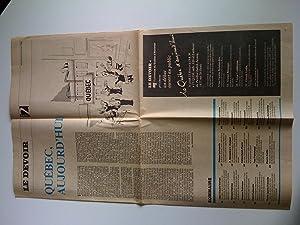 Québec, aujourd'hui. Cahier spécial du Devoir, 4: Textes de Jean-Claude