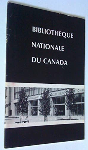 National Library of Canada - Bibliothèque nationale du Canada