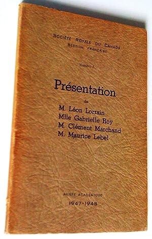 Numéro 5. Présentation de M. Léon Lorrain,: Société royale du