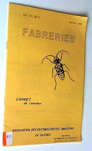 Fabreries, vol. VI, no 5, janvier 1980