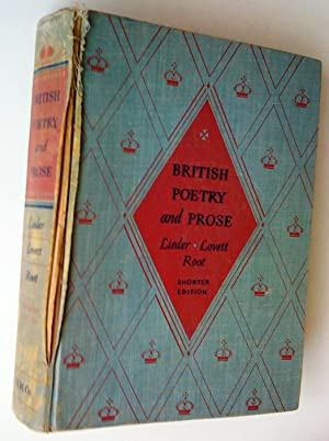 British Poetry and Prose, shorter edition: Lieder, Paul Robert,