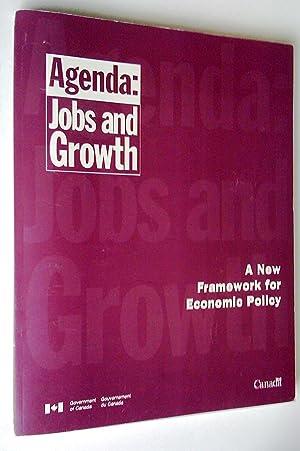 Programme: emploi et croissance. Un nouveau cadre: Goverment of Canada