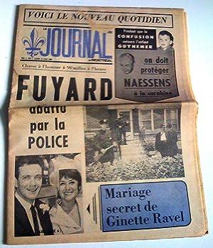Journal de Montréal, vol. 1, no 1, lundi 15 juin 1964 (Voici le nouveau quotidien, Fuyard ...