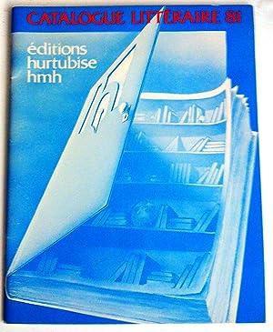 Éditions Hurtubise HMH Catalogue littéraire 81