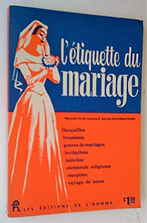 """L""""Étiquette du mariage: Fortin Jacques, Marcelle"""