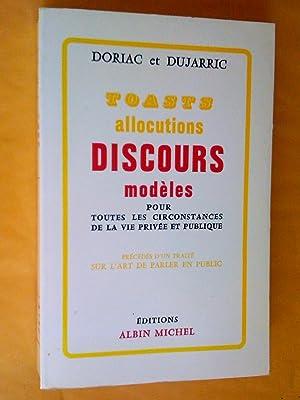 Toasts allocutions et discours modèles pour toutes: Doriac A. -
