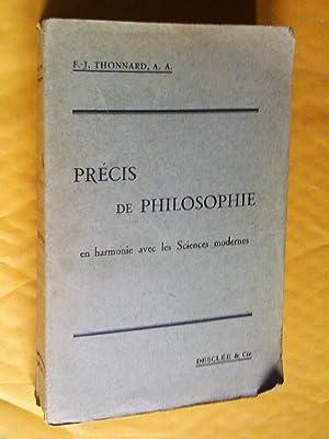 Précis de philosophie en harmonie avec le: Thonnard, F.-J.
