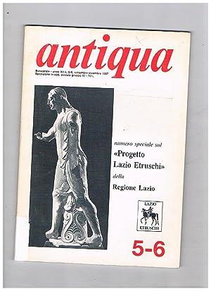 Antiqua. Pubblicazione trimestrale dell'Archeoclub d'Italia per la: FELICIANI Ettore direttore.