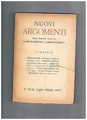 Nuovi argomenti, rivista bimestrale n° 15-16 lug-ott.: MORAVIA Alberto e