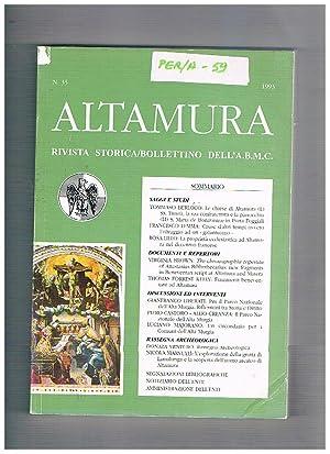 Altamura bollettino dell'archivio, biblioteca, museo civico n°: TRAGNI Bianca direttore.