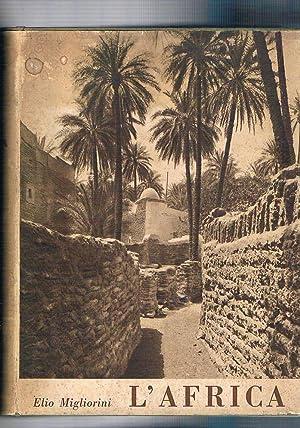 L'Africa. Atlante con 8 cartine geografiche a: MIGLIORINI Elio.