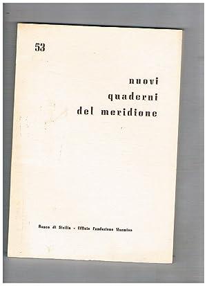 Nuovi quaderni del meridione n° 53-56 annata: BRANCATO Francesco direttore.