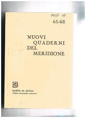 Nuovi quaderni del meridione n° 65-68 annata: BRANCATO Francesco direttore.
