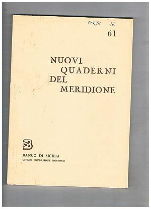 Nuovi quaderni del meridione n° 61-64 annata: BRANCATO Francesco direttore.