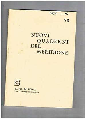 Nuovi quaderni del meridione n° 73-76 annata: BRANCATO Francesco direttore.