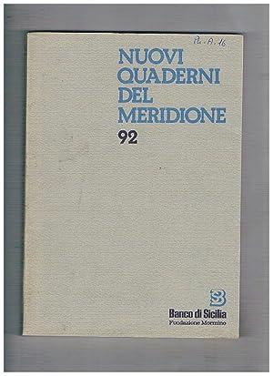 Nuovi quaderni del meridione n° 89-92 annata: BRANCATO Francesco direttore.