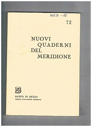 Nuovi quaderni del meridione n° 69-72 annata: BRANCATO Francesco direttore.