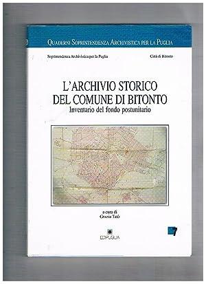 L'Archivio storico del Comune di Bitonto. Inventario: TATO' Grazia, a