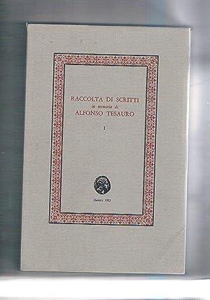 Raccolta di scritti in memoria di Alfonso: AA. VV.