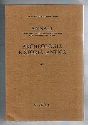 Annali della sezione di archeologia e storia: AA. VV.