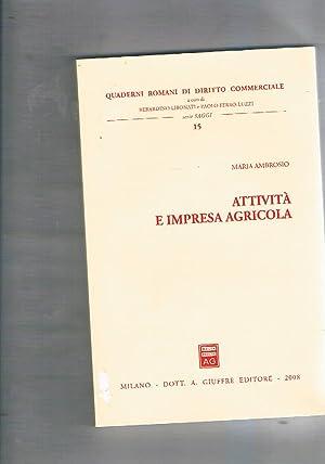 Attività e impresa agricola.: AMBROSIO Maria.