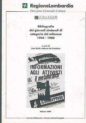 Bibliografia dei giornali sindacali di categoria del: BIELLI Ester e